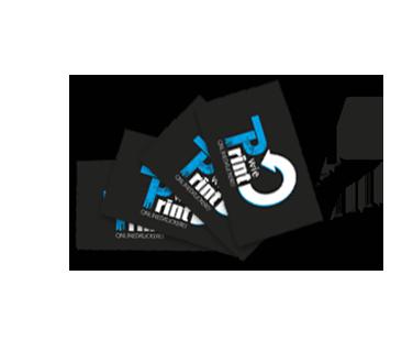 Visitenkarten, einseitig farbig, einseitig s/w, 100 Stk